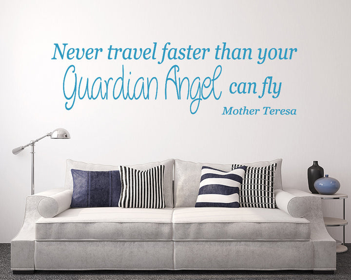 Travel Guardian Angel Fly Decal Vinyl Wall Sticker