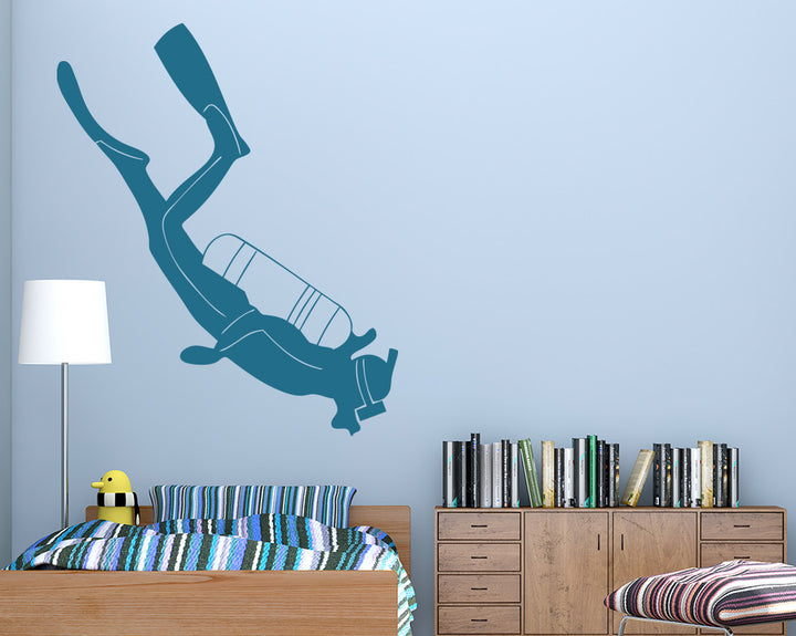 Scuba Diver Decal Vinyl Wall Sticker
