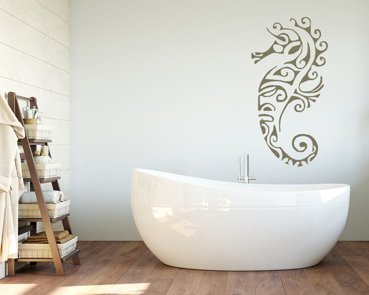 Delicate Sea Horse Decal Vinyl Wall Sticker