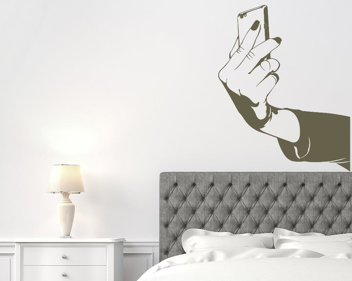 Selfie Picture Phone Decal Vinyl Wall Sticker