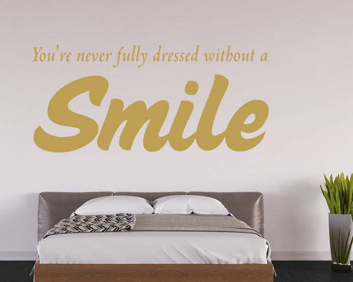 Smile Quote Decal Vinyl Wall Sticker