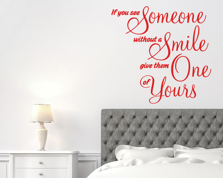 Smiling Happiness Decal Vinyl Wall Sticker