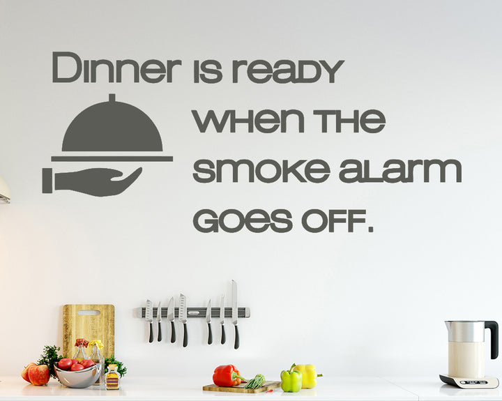 Dinner Funny Quote Decal Vinyl Wall Sticker