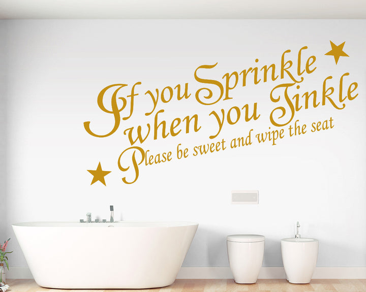 Funny Toilet Quote Decal Vinyl Wall Sticker