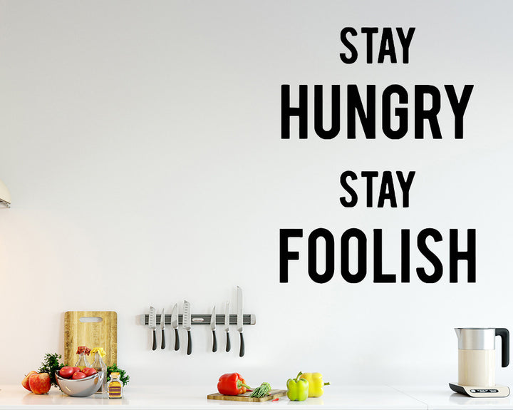Hungry Food Decal Vinyl Wall Sticker