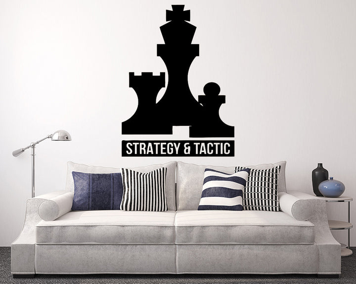 Chess Strategy Decal Vinyl Wall Sticker