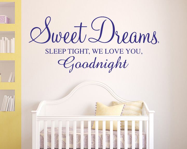 Sweet Dreams Quote Decal Vinyl Wall Sticker