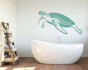 Turtle Swimming Decal Vinyl Wall Sticker