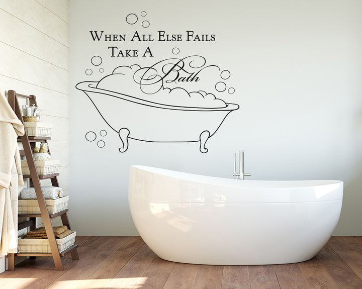 Bath Bubbles Decal Vinyl Wall Sticker