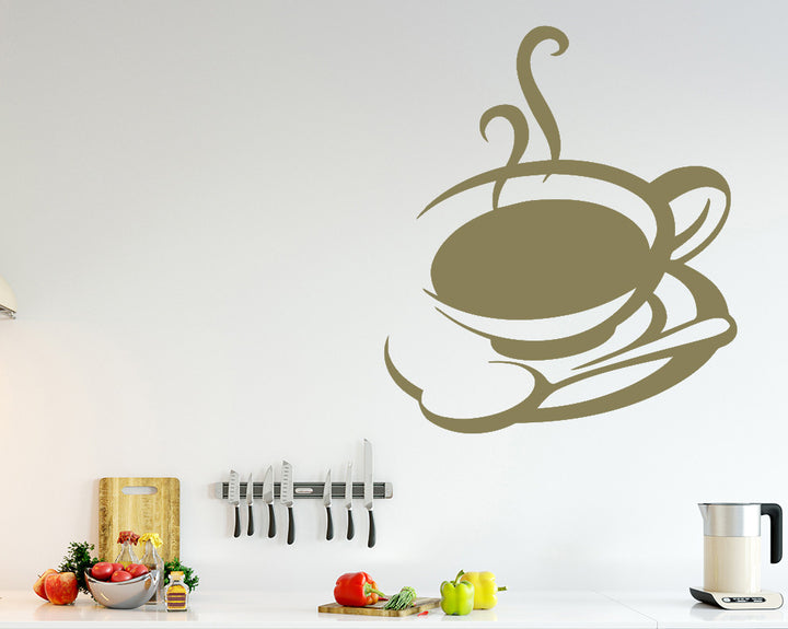 Tea Coffee Cup Decal Vinyl Wall Sticker