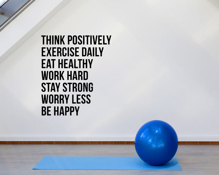 Positive Exercise Health Decal Vinyl Wall Sticker