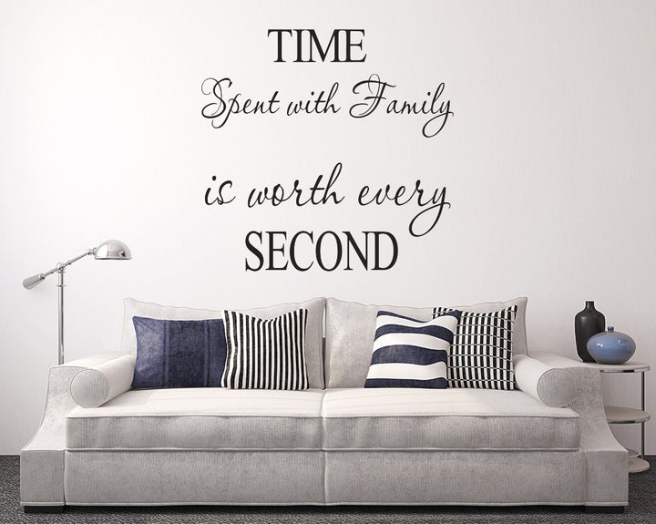 Time Family Decal Vinyl Wall Sticker