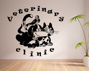 Cute Animals Vet Decal Vinyl Wall Sticker