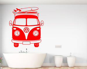 Roadtrip Van Surf Decal Vinyl Wall Sticker