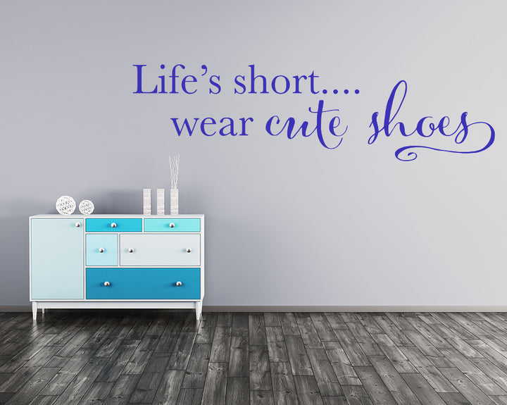 Cute Shoes Fashion Decal Vinyl Wall Sticker