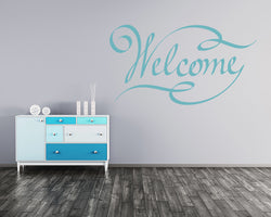 Welcome Sign Decal Vinyl Wall Sticker