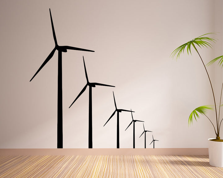 Windmill Energy Decal Vinyl Wall Sticker