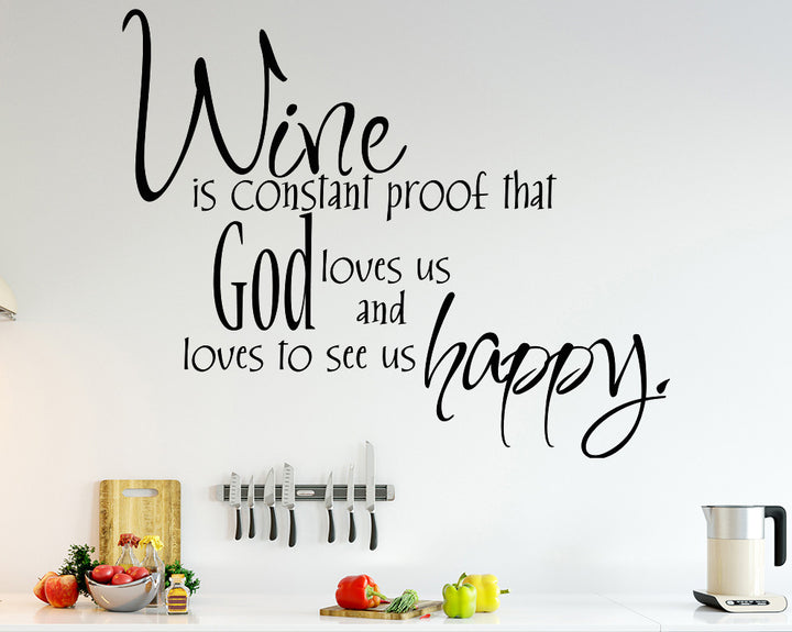 Wine Funny Quote Decal Vinyl Wall Sticker