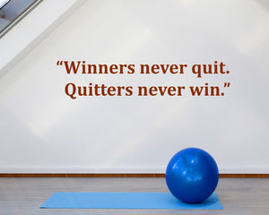 Winners Motivational Quote Decal Vinyl Wall Sticker