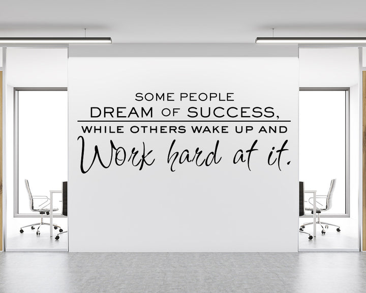 Work Hard Success Decal Vinyl Wall Sticker