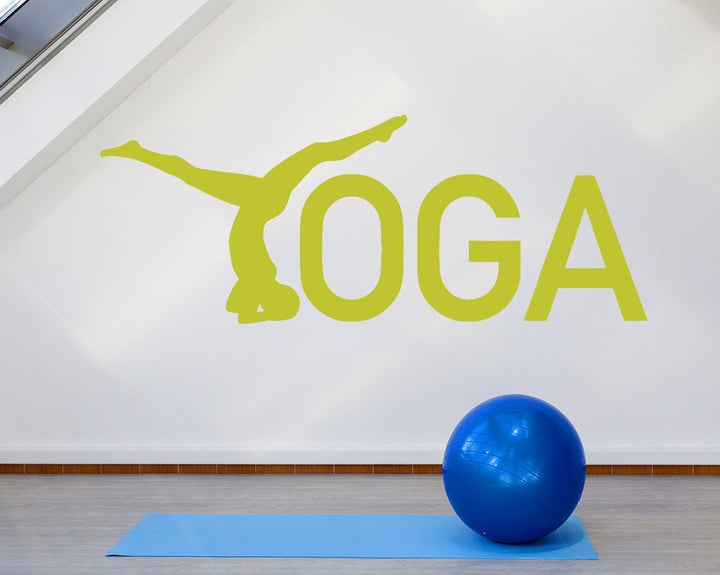 Yoga Pose Decal Vinyl Wall Sticker