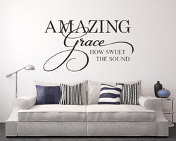 Music Lyric Amazing Grace Decal Vinyl Wall Sticker