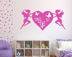 Fairy Heart Decal Vinyl Wall Sticker