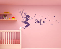 Fairy Any Name Personalised Decal Vinyl Wall Sticker
