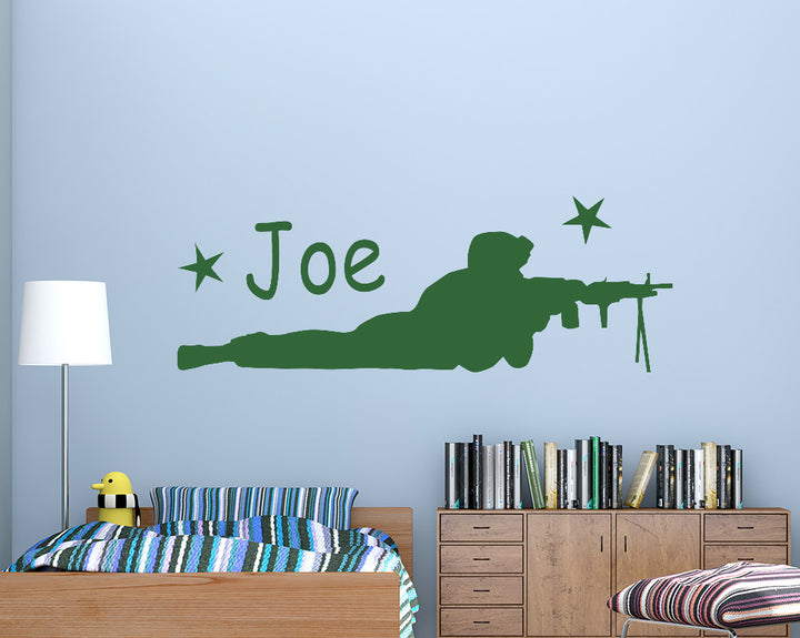 Army Solder Personalised Name Decal Vinyl Wall Sticker