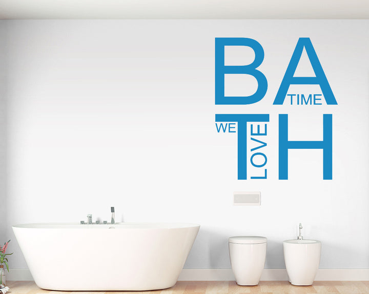 Bath Time Love Decal Vinyl Wall Sticker