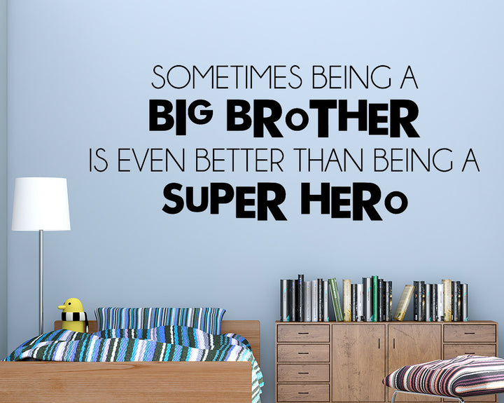 Big Brother Super Hero Decal Vinyl Wall Sticker