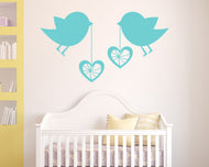 Birds Heart Decoration Decal Vinyl Wall Sticker