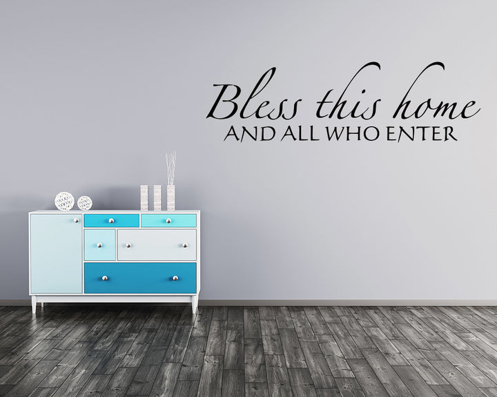 Bless Home Welcome Decal Vinyl Wall Sticker