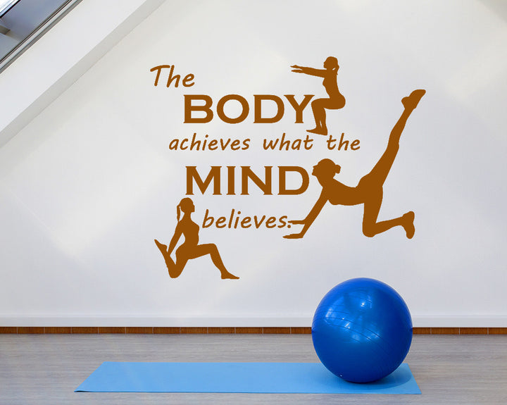 Body Mind Yoga Decal Vinyl Wall Sticker