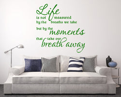 Life Measured Moments Decal Vinyl Wall Sticker