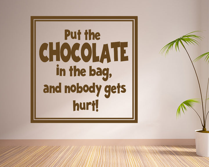 Chocolate Funny Decal Vinyl Wall Sticker