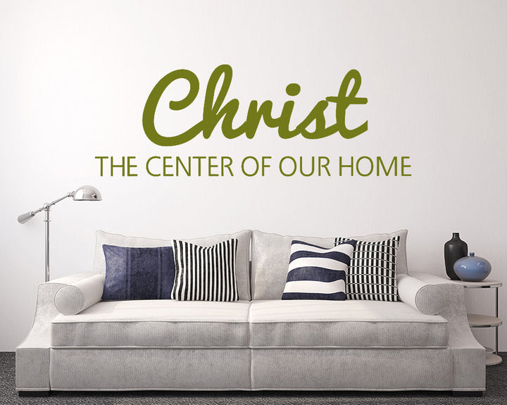 Christ God Centre Of Home Decal Vinyl Wall Sticker