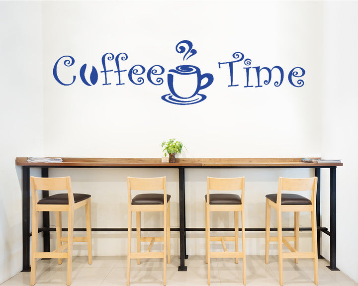 Coffee Time Decal Vinyl Wall Sticker
