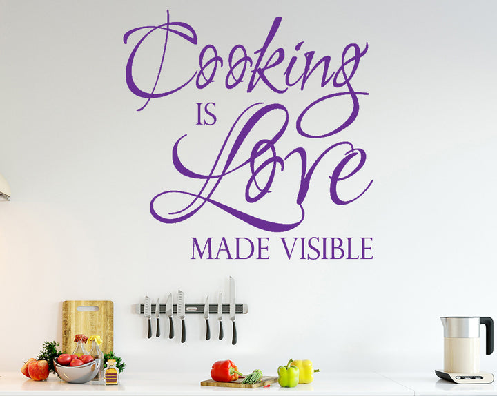 Cooking Love Decal Vinyl Wall Sticker