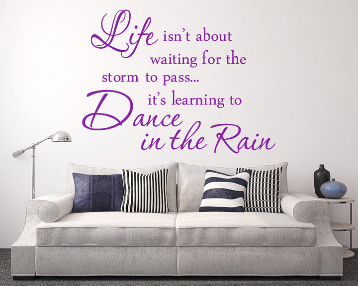 Dance In The Rain Decal Vinyl Wall Sticker
