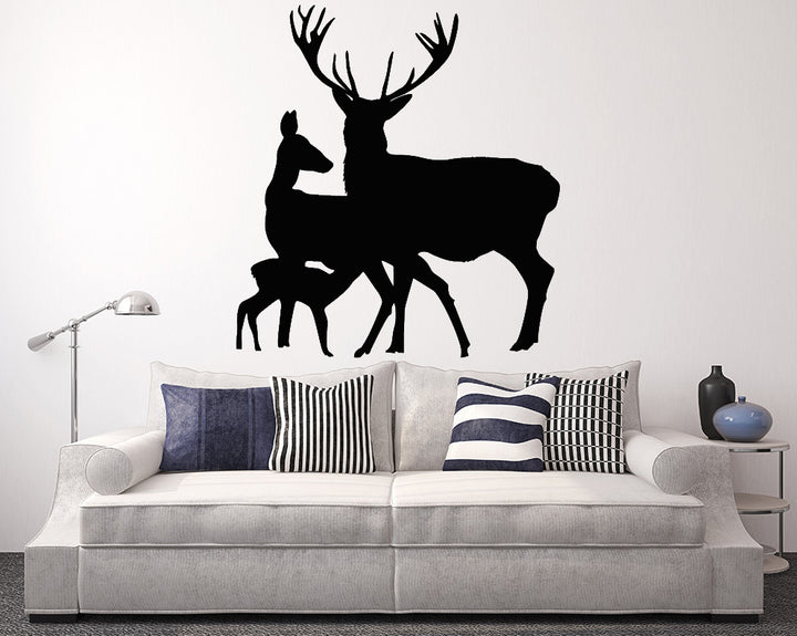 Deer Stag Family Decal Vinyl Wall Sticker