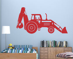Cool Tractor Digger Decal Vinyl Wall Sticker