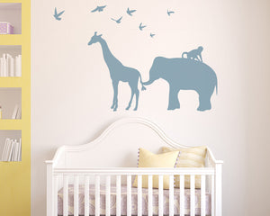Cute Animal Friends Decal Vinyl Wall Sticker