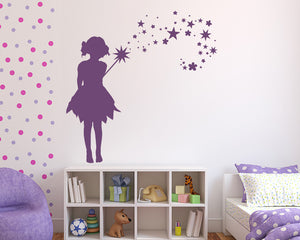 Fairy Girl Magic Wand Decal Vinyl Wall Sticker
