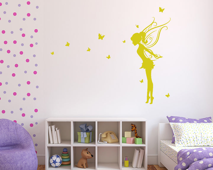 Pretty Fairy Butterflies Decal Vinyl Wall Sticker