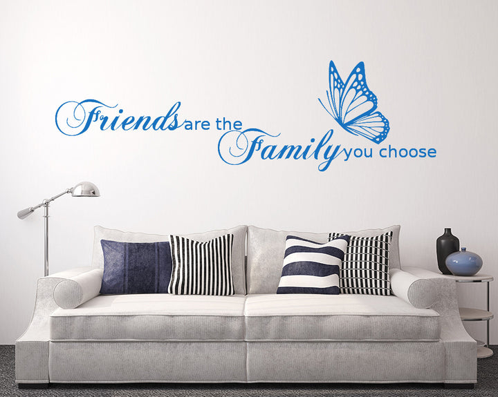 Friends Family Quote Decal Vinyl Wall Sticker