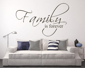 Family Forever Quote Decal Vinyl Wall Sticker