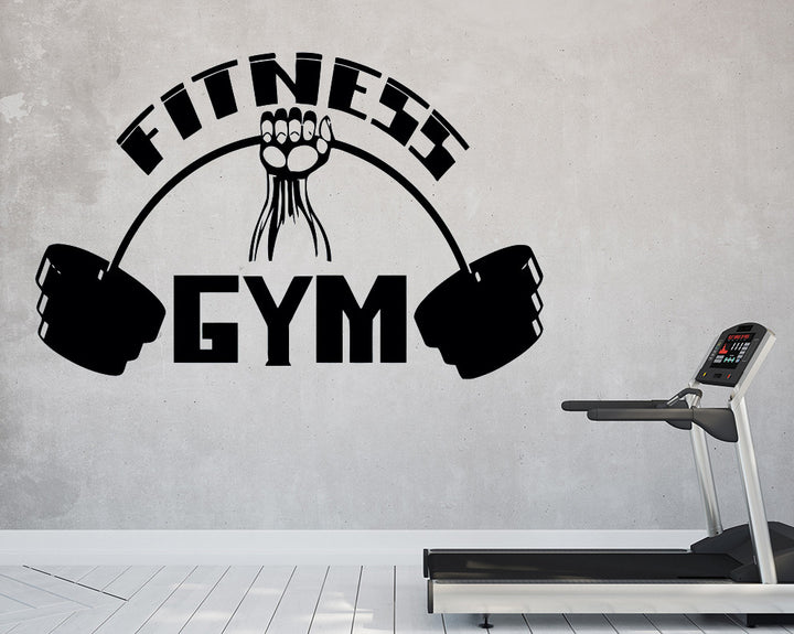 Fitness Muscle Building Decal Vinyl Wall Sticker