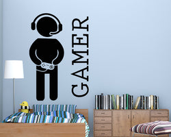 Gamer Boy Decal Vinyl Wall Sticker