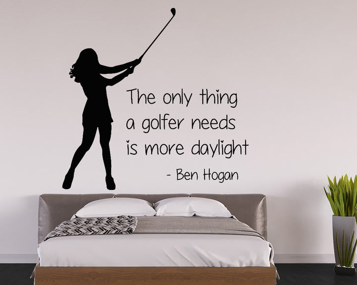 Golf Daylight Quote Decal Vinyl Wall Sticker